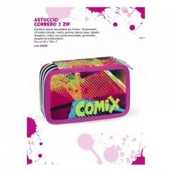 ASTUCCIO 3 ZIP COMIX - ROSA