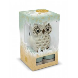SET PORTA TEALIGHT GUFO + 8...